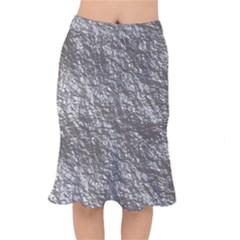Crumpled Foil 17b Mermaid Skirt by MoreColorsinLife