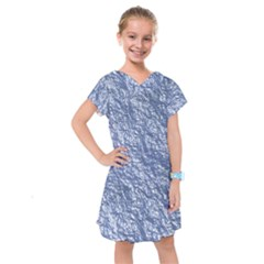 Crumpled Foil 17d Kids  Drop Waist Dress