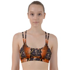 Halloween, Funny Mummy With Pumpkins Line Them Up Sports Bra