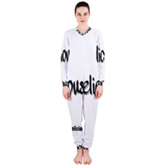 Belicious Logo Onepiece Jumpsuit (ladies)  by beliciousworld