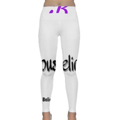 Belicious World  b  Purple Classic Yoga Leggings by beliciousworld