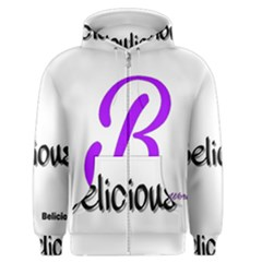 Belicious World  b  Coral Men s Zipper Hoodie by beliciousworld