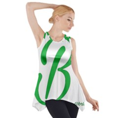 Belicious World  b  In Green Side Drop Tank Tunic by beliciousworld