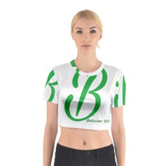 Belicious World  b  In Green Cotton Crop Top by beliciousworld