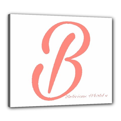 Belicious World  b  In Coral Canvas 24  X 20  by beliciousworld