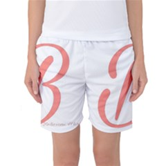 Belicious World  b  In Coral Women s Basketball Shorts by beliciousworld
