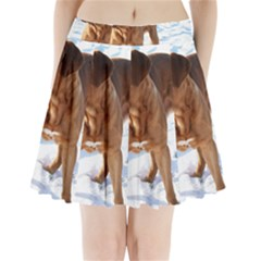 Dogue De Bordeaux In Snow Pleated Mini Skirt by TailWags
