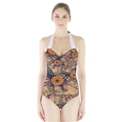 Colors Patterns Lines Surfaces 20270 3840x2400 Halter Swimsuit