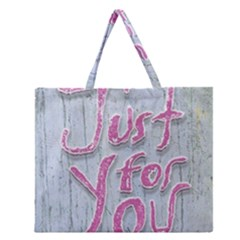 Letters Quotes Grunge Style Design Zipper Large Tote Bag by dflcprints