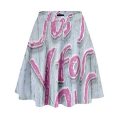 Letters Quotes Grunge Style Design High Waist Skirt by dflcprints