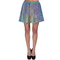 Colorful Pattern Blue And Purple Colormix Skater Skirt by paulaoliveiradesign