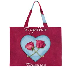 Love Concept Design Zipper Large Tote Bag by dflcprints