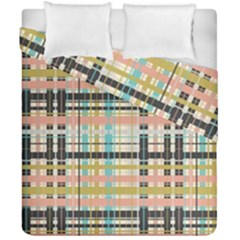 Plaid Pattern Duvet Cover Double Side (california King Size) by linceazul