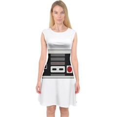 Video Game Controller 80s Capsleeve Midi Dress by Valentinaart