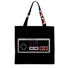 Video Game Controller 80s Zipper Grocery Tote Bag by Valentinaart