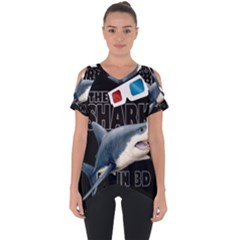 The Shark Movie Cut Out Side Drop Tee
