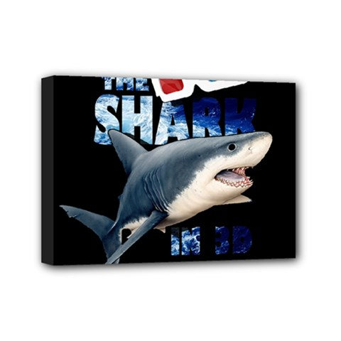The Shark Movie Mini Canvas 7  X 5  by Valentinaart