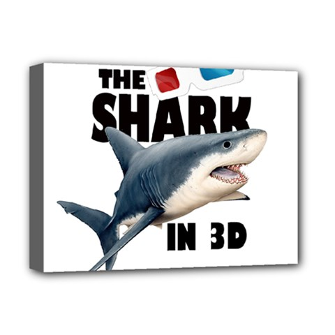 The Shark Movie Deluxe Canvas 16  X 12   by Valentinaart