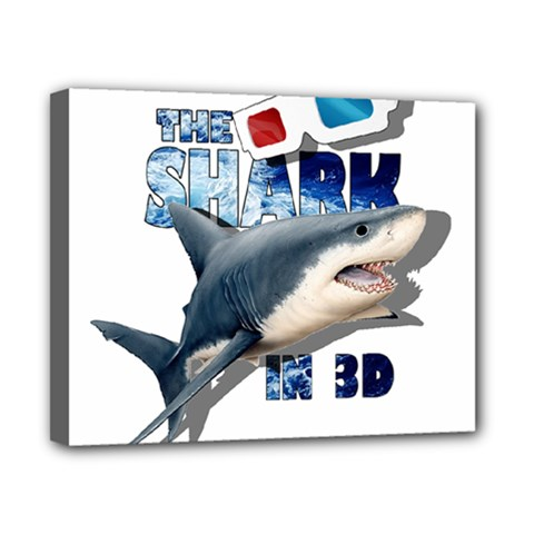 The Shark Movie Canvas 10  X 8  by Valentinaart