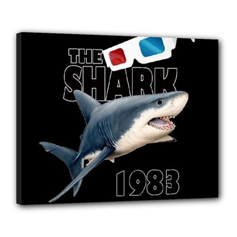 The Shark Movie Canvas 20  X 16  by Valentinaart