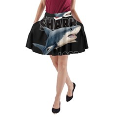 The Shark Movie A Line Pocket Skirt by Valentinaart