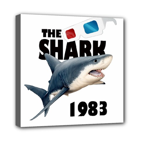 The Shark Movie Mini Canvas 8  X 8  by Valentinaart