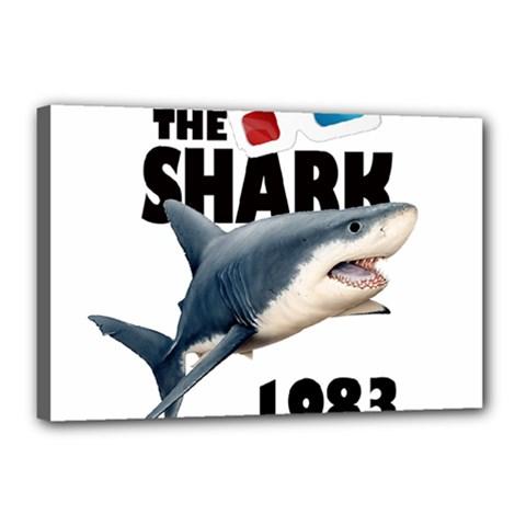 The Shark Movie Canvas 18  X 12  by Valentinaart