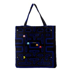 Pac Man Grocery Tote Bag by Valentinaart