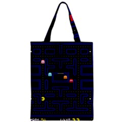 Pac Man Zipper Classic Tote Bag by Valentinaart
