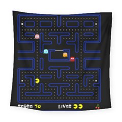 Pac Man Square Tapestry (large) by Valentinaart