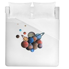 Planets  Duvet Cover (queen Size) by Valentinaart