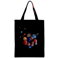 Planets  Zipper Classic Tote Bag by Valentinaart