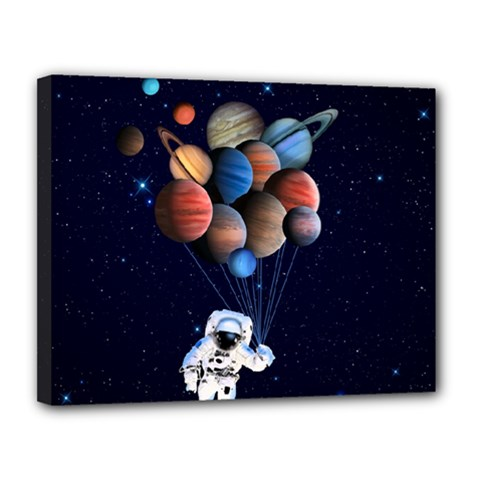 Planets  Canvas 14  X 11  by Valentinaart