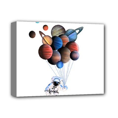 Planets  Deluxe Canvas 14  X 11  by Valentinaart