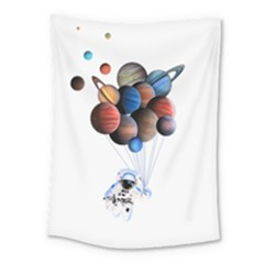 Planets  Medium Tapestry by Valentinaart