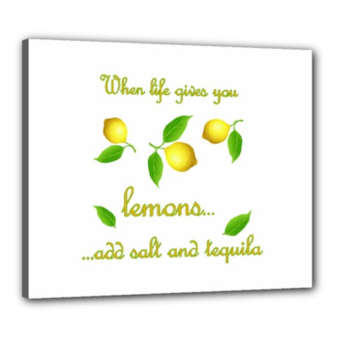 When Life Gives You Lemons Canvas 24  X 20  by Valentinaart