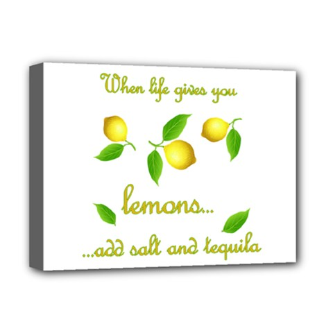 When Life Gives You Lemons Deluxe Canvas 16  X 12   by Valentinaart