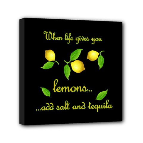When Life Gives You Lemons Mini Canvas 6  X 6  by Valentinaart