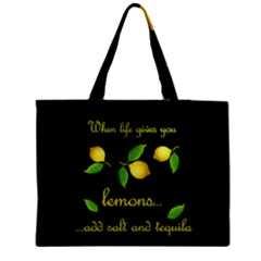 When Life Gives You Lemons Medium Tote Bag by Valentinaart