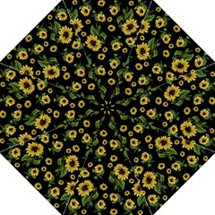 Sunflowers Pattern Hook Handle Umbrellas (large) by Valentinaart
