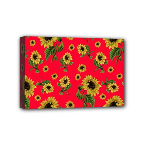 Sunflowers Pattern Mini Canvas 6  X 4  by Valentinaart