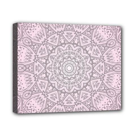 Pink Mandala art  Canvas 10  x 8