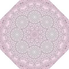 Pink Mandala Art  Hook Handle Umbrellas (large) by paulaoliveiradesign