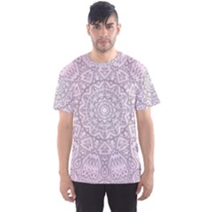Pink Mandala art  Men s Sports Mesh Tee