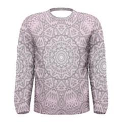 Pink Mandala Art  Men s Long Sleeve Tee by paulaoliveiradesign