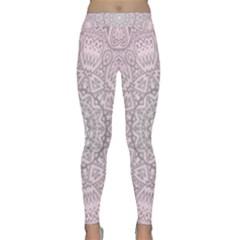 Pink Mandala art  Classic Yoga Leggings