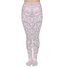 Pink Mandala art  Women s Tights