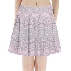 Pink Mandala Art  Pleated Mini Skirt by paulaoliveiradesign