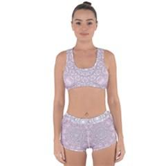 Pink Mandala art  Racerback Boyleg Bikini Set