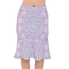 Pink Mandala art  Mermaid Skirt